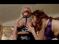 Lesbian Vida Garman leather fetish