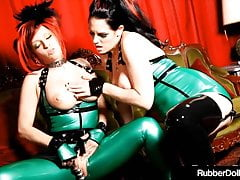 Gorgeous Goddesses RubberDoll & Shae Fatale Fuck In Latex!