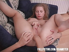 Hot Lesbian Anal Fisting And Strap-On Action!